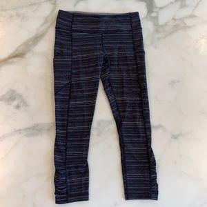 Lululemon Navy Blue Striped Leggings